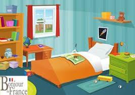 chambre et la chambre et les pré en français learning