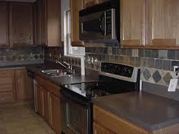 slate tile kitchen backsplash pros and cons of a tumbled slate tile backsplash home design