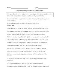 simple and complex sentences worksheets free worksheets library