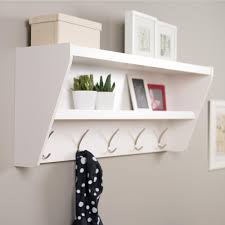 entryway rack prepac 48 5 in x 19 25 in floating entryway shelf and coat rack in
