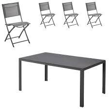 chaises pliables salon de jardin nevada mexico 1 table 4 chaises pliables jysk