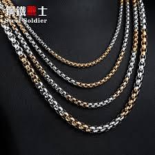 man pearl necklace images Steel soldier men spiga plait necklace chain 3mm 4mm 5mm 6mm width jpg