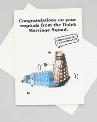 doctor who congratulations card dalek doctor who wedding card sci fi nuptials