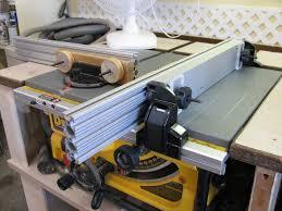 dewalt jobsite table saw accessories diy table saw fence accessory for the dewalt dw745 by htl