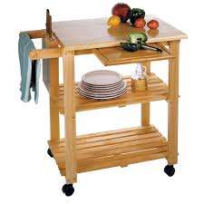 winsome kitchen cart with cutting board knife block and shelves kitchen cart with cutting board knife block and shelves