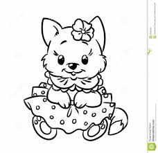 baby kitten coloring pages stock photos image 36253193 inside cow