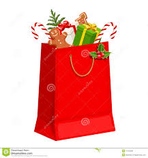 christmas gift bag christmas gift bag vector illustration stock vector