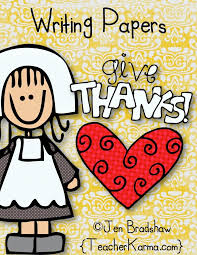 give thanks free writing prompts and thanksgiving papers