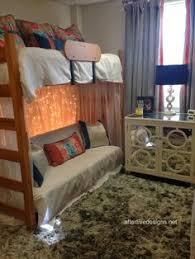 great dorm room barnwood door headboard gray and orange dust