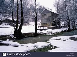 Snow At Home by Squire Boone Grist Mill And New Snow At Squire Boone Cavern