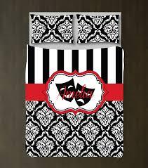Girls Striped Bedding by Custom Theatre Mask Bedding For Girls Damask Stripes U2013 Shop