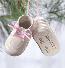 ornaments to personalize personalized baby bootie ornament baby ornament exposures
