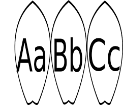 A B C Surfboard Word Wall Clip Art At Clker Com Vector Clip Surfboard Coloring Page