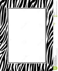 zebra print border royalty free stock photography image 9984257