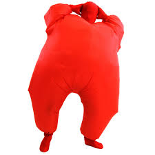 Fat Suit Halloween Costume Red Inflatable Fat Suit Costume Blow Chub Ebay