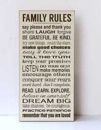 Family Wood Sign Home Decor Family Rules Sign Rules Of The Family Our Family Rules
