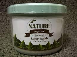Pembersih Muka Natur E jual nature organic lulur wajah green tea 250gr grosir cantik
