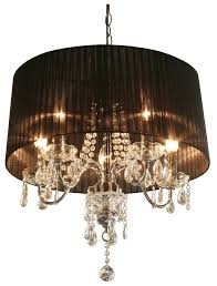 Chandelier With Black Shades Black Chandelier With Crystals Ideas For Home Decoration Shaded