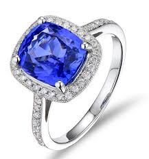 sapphire halo engagement rings antique 1 50 carat cushion cut sapphire and halo