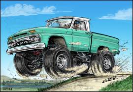 monster trucks drawings toon up the automotive art of mark ervin hemmings daily