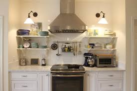 attractive kitchen shelves instead of cabinets with remodel