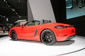how much is a porsche boxster 2017 porsche 718 boxster fully revealed with turbo flat four engines