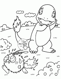 charmander pokemon coloring pages for kids pokemon characters