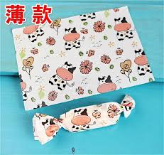 cow wrapping paper 50pc small cow nougat wrapping paper 12 5x9cm wedding candy
