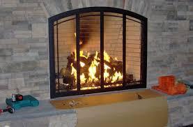 modern glass fireplace doors new living rooms glass door for fireplace regarding current