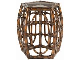 Oval Accent Table Tommy Bahama Home Royal Kahala Rattan With Leather Binding Oval