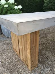 cb2 end table cement coffee table reclaimed wood side table