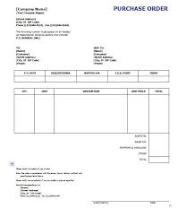 Purchase Order Form Template Excel Purchase Order Sle Purchase Order Form Sle Purchase Order