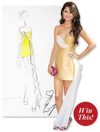 selena gomez u0027s erin fetherston dress win a sketch gift card