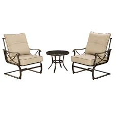 Patio Spring Chair by Tan Brown Brunspark Spring 3 Piece Chair And Table Set At Home