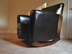 ikea hack diy wingback rocking chair ikea decora how to convert an upholstered chair into a swivel glider hacks