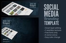social media brochure template social media branding template psd file free