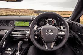 lexus alcantara interior lexus lc coupe features safety and practicality parkers