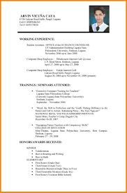 sample of a resume for job application resume for study