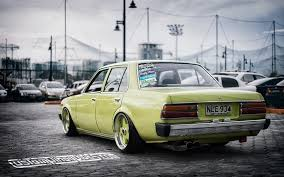 wallpaper stanced old toyota corona