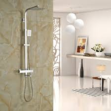 compare prices on thermostatic shower bath mixer online shopping chrome thermostatic shower faucet set wall mounted bathroom mixer tap 8