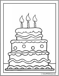 birthday cake coloring page regarding invigorate to color page
