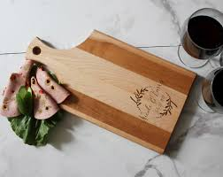 house warming gifts personalized cutting board customized cheese board maple paddle
