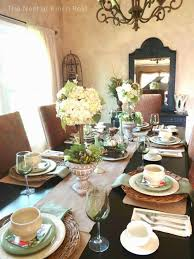the nest at finch rest spring tablescape nature u0027s elements