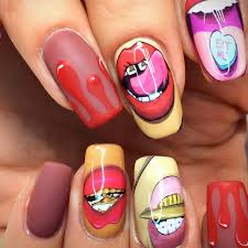 aliexpress com buy 1 sheets funny nail sticker mouth lips