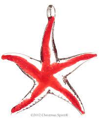 glass figurine glass starfish ornament