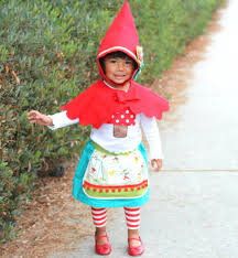 Gnome Toddler Halloween Costume Girls Garden Gnome Costume