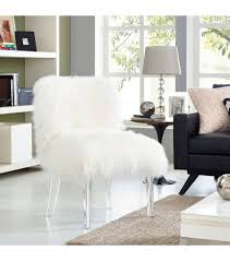 White Fluffy Chair Acrylic Chair With Fur Best 25 Ghost Chairs Ideas Only On