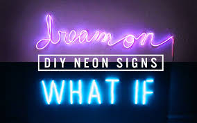 Bedroom Neon Lights Diy Neon Sign Decor The Sorry