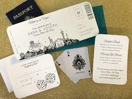 las vegas destination wedding las vegas skyline plane ticket wedding invitation destination