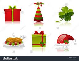 set celebrationsnew yearchristmas st patricks day stock vector